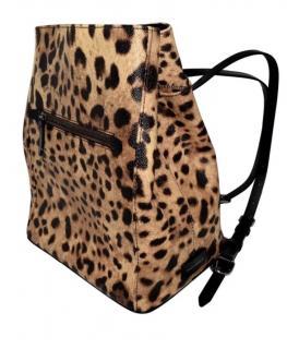 Dolce & gabbana leopard print backpack