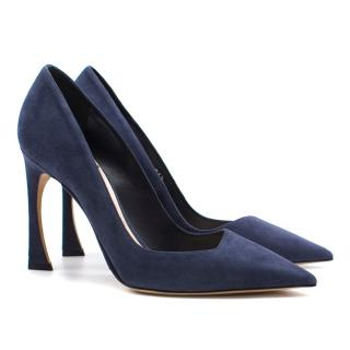 Dior suede choc heel pumps