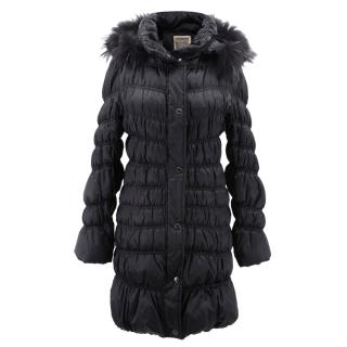 Romeo Gigli Sportif black down jacket coat