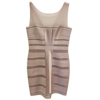 BCBG Max Azria pink mini bandage dress