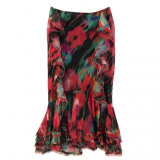 Jason Wu Silk Floral Skirt US 4