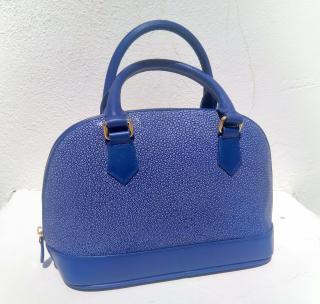Hidetoshi blue stingray handbag