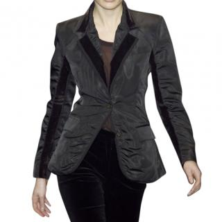 Yves Saint Laurent Black panel jacket