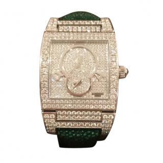 De Grisogono Instrumentino white gold & diamond watch