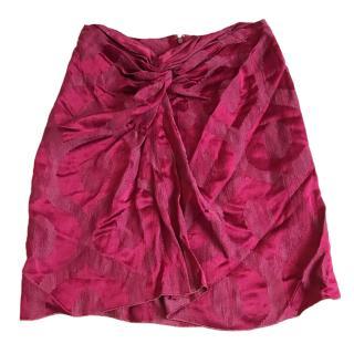 Isabel Marant Burgundy Mini Skirt