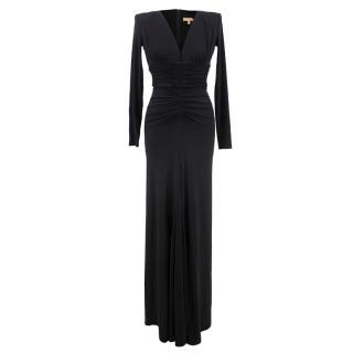 Michael Kors black v-neck gown
