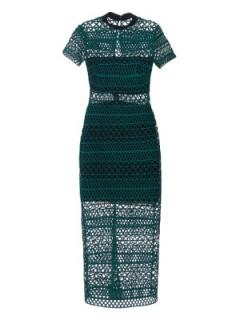 Self Portrait high neck column midi dress