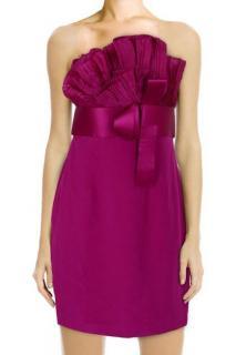 Marchesa Notte fuchsia strapless dress