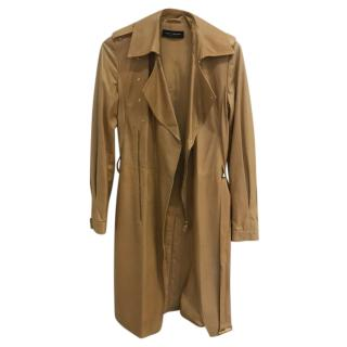 Sophia Kokosalaki Leather Trench Coat