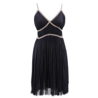 Alberta Ferretti black silk chiffon dress