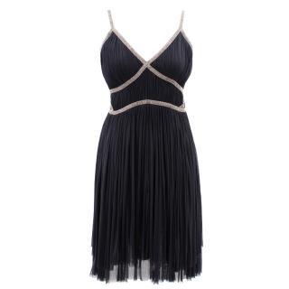 Alberta Ferretti black silk chiffon dress