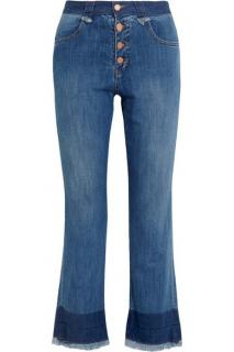 See by Chloe cropped mid rise flared jeans