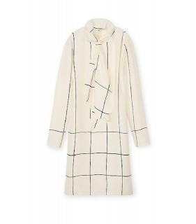Tory Burch Ivory Silk Tie Dress