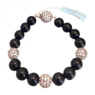 Ambrosia Couture Onyx and Swarovski Crystal Bracelet