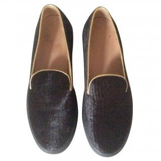 Dries van Noten  Leather trainers size 39.5 U.K. 6