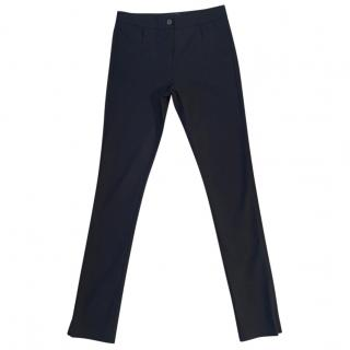 ME+EM black viscose cotton blend skinny stretchy trousers