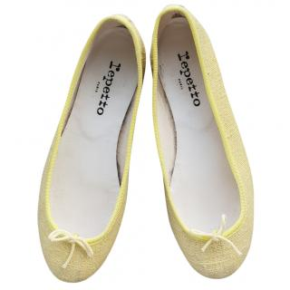 Repetto pastel yellow flats