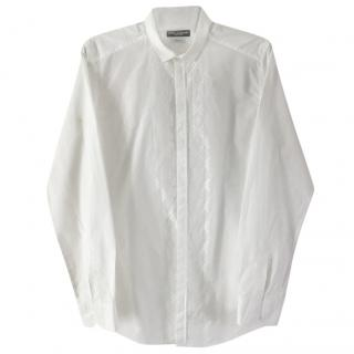 Dolce & Gabbana gold, white shirt with patterned middle