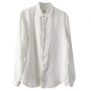 Armani Collezioni white linen  shirt