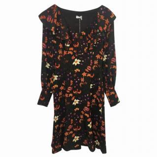 Valentino Printed Florad Dress