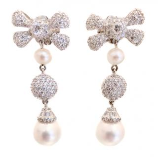 Ambrosia Couture Double Pearl Drop Earrings