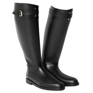 Mulberry Black Wellington boots