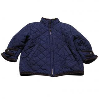 Ralph Lauren boys Navy quilted jacket
