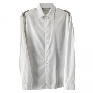 Hermes white patterned shirt