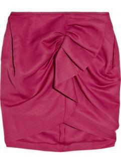 Isabel Marant raspberry draped skirt