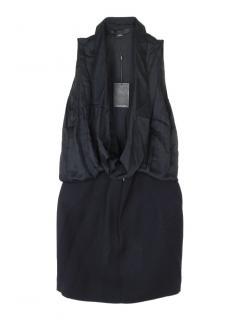 Alexander Wang sleeveless black wool and silk blend dress