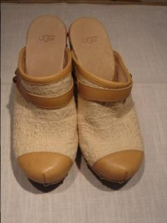 Ugg Australia cream clogs