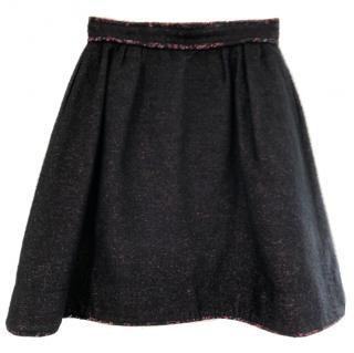 Rochas wool-silk blend tweed skirt