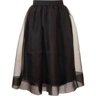Orla Kiely Black Organza Bubble Skirt
