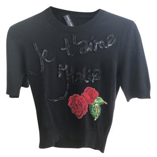 Dolce & gabbana Je t'aime 'Italie Rose jumper