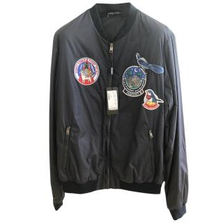 Dolce & Gabbana men's patched Bomber Jacket
