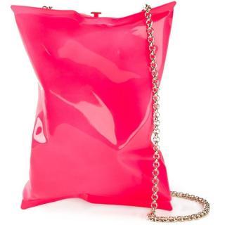 Anya Hindmarch Hot Pink Crisp Packet Clutch