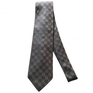 Louis Vuitton LV Chocolate Brown Tie
