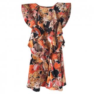 Givenchy Butterfly Floral Silk Top