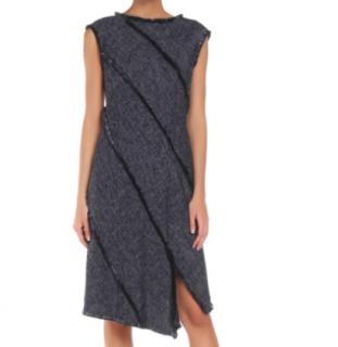 Escada Asymmetric Tassel Trim Dress