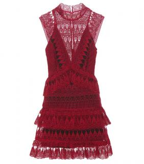 Self Portrait Teardrop Guiepere Lace Mini Dress
