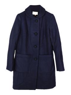 YMC wool blend dark navy coat
