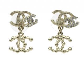 Chanel Triple CC Logo Earrings