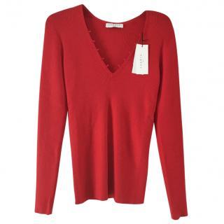 Sandro red sweater