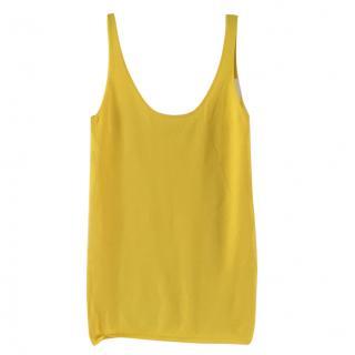 Sandro Yellow Sleeveless Vest Top