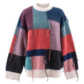 Stella McCartney multicolour oversized wool jumper