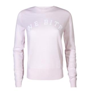 Zoe Karssen Pink 'We Bite' Jumper