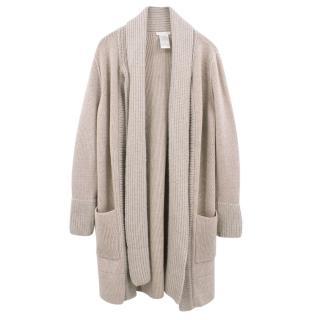 Chloe sand wool cardigan