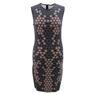 Alexander McQueen Sleeveless Body-con Printed Dress