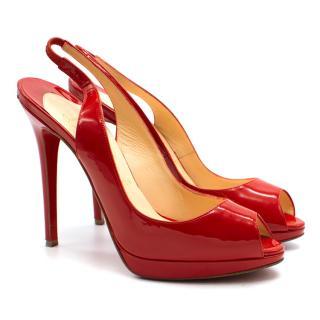 Christian Louboutin Flo Patent Leather Peep Toe Heel