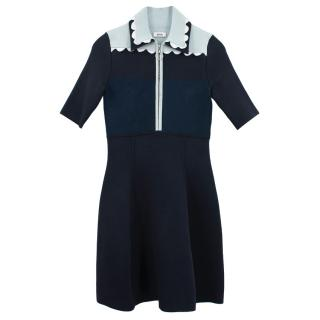 Issa fitted stretch navy dress
